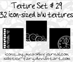 Texture Set 29 - Black + White by solstice-fairy