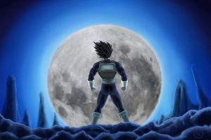 Vegeta Moon Envy by TOMAHAWK-DRAGON