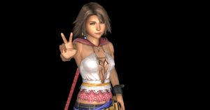 Yuna Peace Sign by nashdnash2007