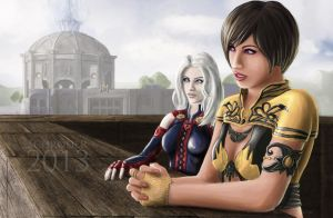 Mariam and Sialai GW2 by FedeSchroe