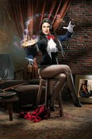 Zatanna, A Magic Trick by libogant