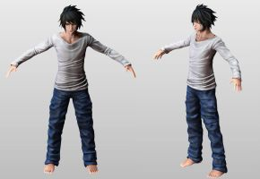 L (DEATH NOTE) wip2 by tetsuok9999