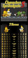 Knights vs Orcs - Game Sprites by pzUH