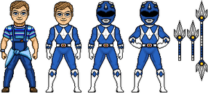Billy the Blue Ranger by MegaZeo