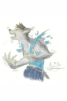 Human Wolf Colored by V8Arwing67