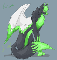 Kasume The winged wolf by FbPheonix1