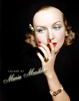 Carole Lombard ~~1930s ~~ Colourised by Maria-Musikka