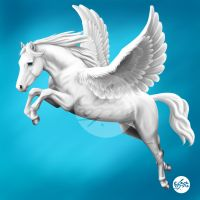Jumping Pegasus by ebonita