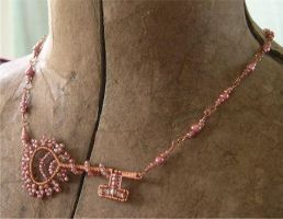 Copper Key Necklace by ElegantlyEccentric