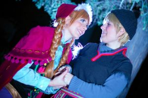 Kristoff and Anna II by Phadme