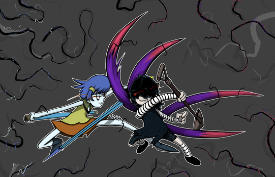 Lucy vs Spectrolite  Commission by OasisCommander51