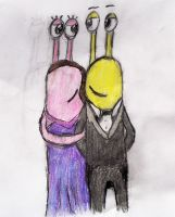Slinkman and Anna, wedding day by wolfgrl1492