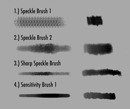 Speckle And Sensitivity Brush Set by KPatoni