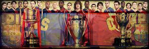 FC Barcelona Tricampeons by Lord-Iluvatar