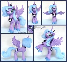 Princess Luna Season 1 Plushie - SOLD by MakeItSew