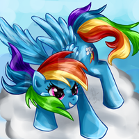 .:Request:. Rainbow Dash by LittleOcean
