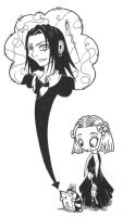Lenore and Mr. Muffinhead by VeeBunny