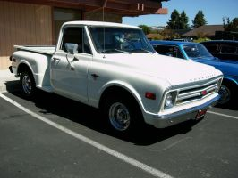 1968 Chevrolet Stepside white pickup truck by RoadTripDog
