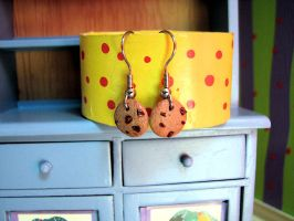 Cookie dangle earrings by Miss-Millificent