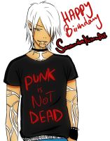 Fenris Happy Bday SamanthaKittenDix by Mahadesu
