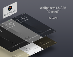 Wallpapers iOS7 LS/SB : Dotted Classy by Svink77
