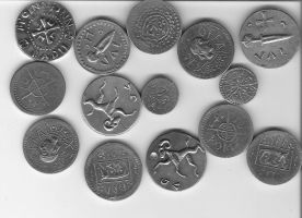 pewter coins by ozurr