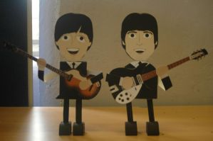 Paper Models - John Lennon Paul McCartney by akeel465