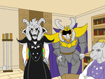 Awkward Dreemurr Familiy Photo by Mew-tew