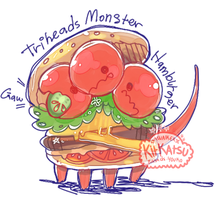 [CLOSED] Hamburger Monster Auction (update!!) by Kit-katsu