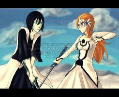 Ulquiorra + Orihime: FIGHT by Club-Bleach