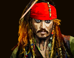 Close up Jack Sparrow by elviraNL