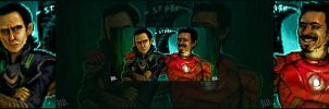 loki and ironman by do-po