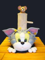 Tom and Jerry Cake by ginas-cakes