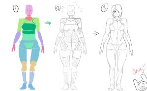 My process for creating a body by ManiacPaint