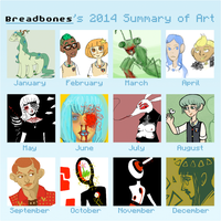 2014 summary of art meme by Breadbones