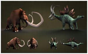 Primal Rumble Mammoth and Steg by DanLHughes