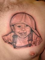 boy with hat portait tattoo by asussman