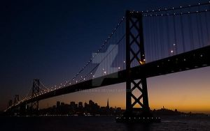 Mid-Bay Bridge, S.F., Cal. by pixeldawg
