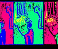 Abstracted Nick Rhodes by 23hra