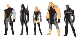 savage x-force designs by anklesnsocks