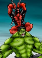 Deadpool vs Hulk by NineteenPSG