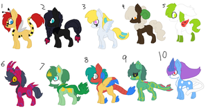 Pokemen ponies adopts by Kyah-Pony-Adoptables