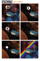 SPACE WHALE GOES TO MARS by Girl-on-the-Moon