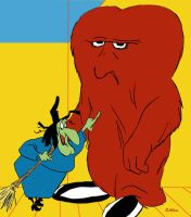 Witch Hazel and Big Red by Ederoi