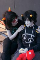 Are you afraid? [Karkat and Terezi] by Mitsuki-Aizawa