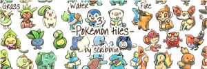 3 Pokemon tiles +video by scribblin