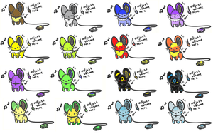 Eevee Evolution PMS Adopts by fangs211