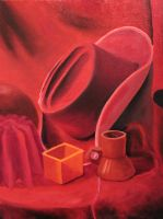 FINT103 Oil Painting 4: Monochromatic Red by BrielleCoppola