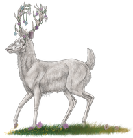 Nature Spirit Deer by Riixon