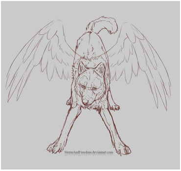 Let's fly! - WIP commission for PittheKidIcarus by StormAndFreedom